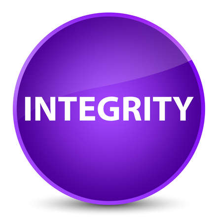 Integrity isolated on elegant purple round button abstract illustration Stock Photo