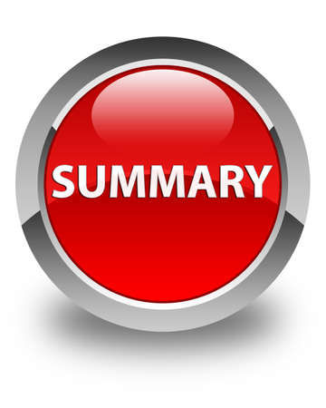 Summary isolated on glossy red round button abstract illustration