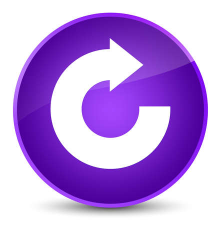 Reply arrow icon isolated on elegant purple round button abstract illustration Stock Photo
