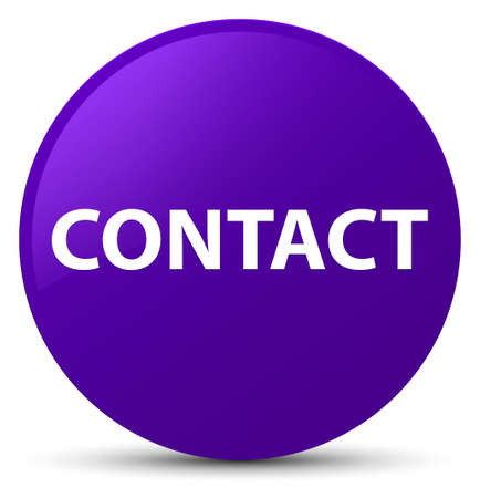 Contact isolated on purple round button abstract illustration Stock Photo