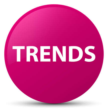 Trends isolated on pink round button abstract illustration 스톡 콘텐츠