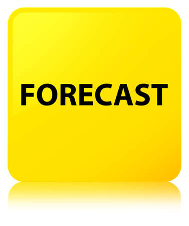 Forecast isolated on yellow square button reflected abstract illustration