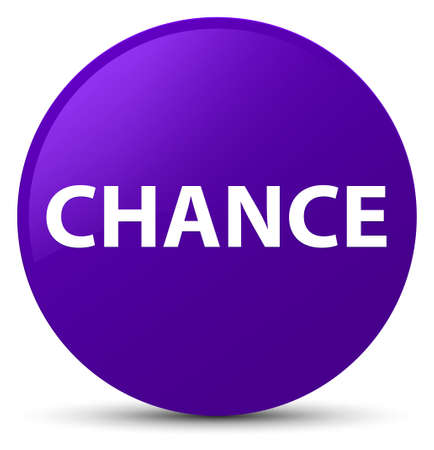 Chance isolated on purple round button abstract illustration Banco de Imagens