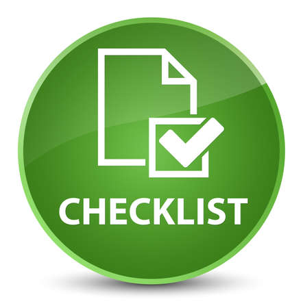 Checklist isolated on elegant soft green round button abstract illustration Stock Photo