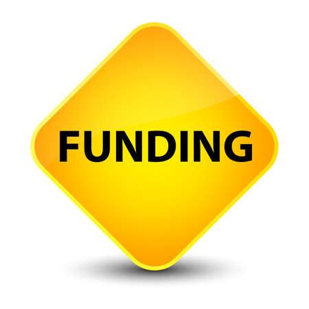 Funding isolated on elegant yellow diamond button abstract illustration