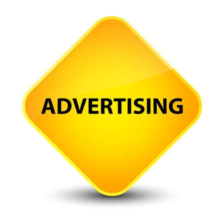 Advertising isolated on elegant yellow diamond button abstract illustration
