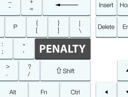 Penalty isolated on black keyboard button abstract illustration