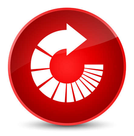 Rotate arrow icon isolated on elegant red round button abstract illustration