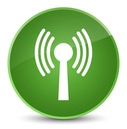 Wlan network icon isolated on elegant soft green round button abstract illustration