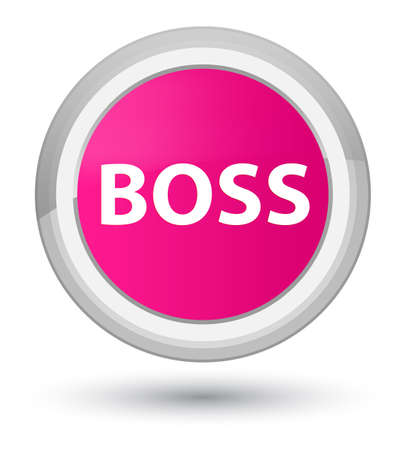 Boss isolated on prime pink round button abstract illustration