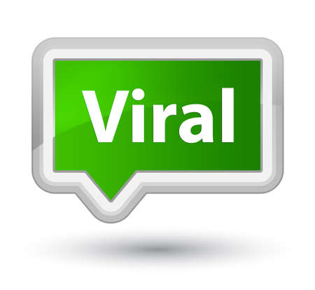 Viral isolated on prime green banner button abstract illustration