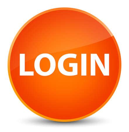 Login isolated on elegant orange round button abstract illustration