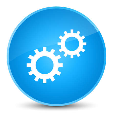 Process icon isolated on elegant cyan blue round button abstract illustration