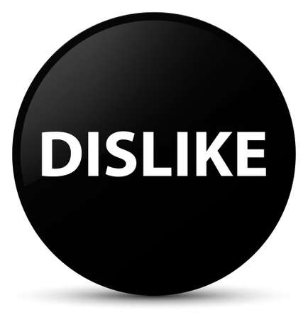 Dislike isolated on black round button abstract illustration