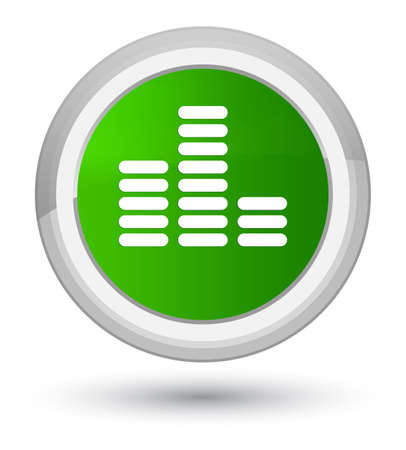 Equalizer icon isolated on prime green round button abstract illustration Stock Photo