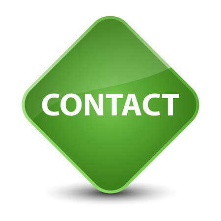 Contact isolated on elegant soft green diamond button abstract illustration Stock Photo