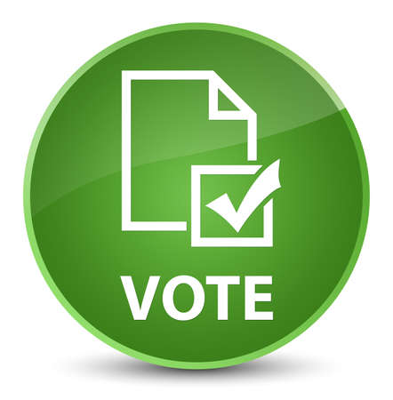 Vote (survey icon) isolated on elegant soft green round button abstract illustration