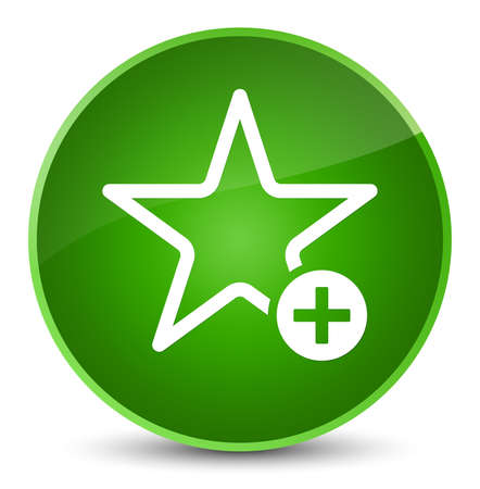 Add to favorite icon isolated on elegant green round button abstract illustration