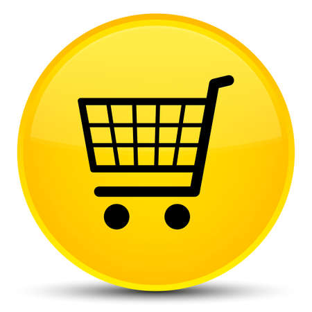 Ecommerce icon isolated on special yellow round button abstract illustration
