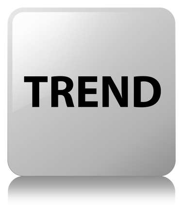 Trend isolated on white square button reflected abstract illustration