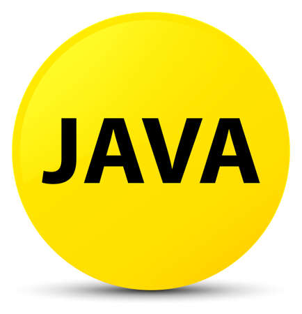 oriented: Java isolated on yellow round button abstract illustration Stock Photo