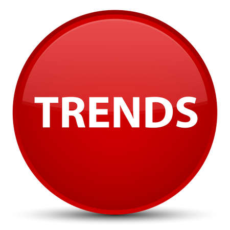 Trends isolated on special red round button abstract illustration Stok Fotoğraf