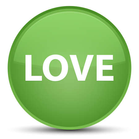 Love isolated on special soft green round button abstract illustration