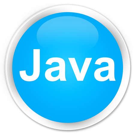 プレミアムシアンブルーラウンドボタン抽象イラストに分離された Java