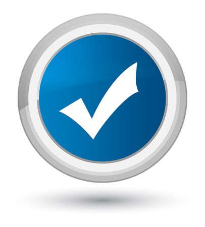 validation icône isolé sur le bouton bleu haute ronde illustration vectorielle