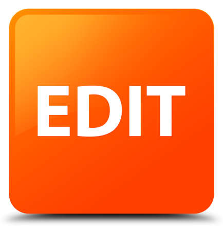 Edit isolated on orange square button abstract illustration Stock Photo
