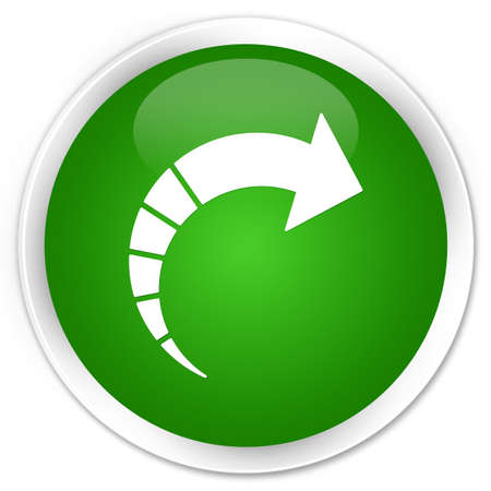 Next arrow icon isolated on premium green round button abstract illustration Stock Photo