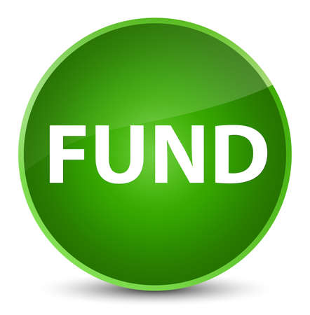 Fund isolated on elegant green round button abstract illustration