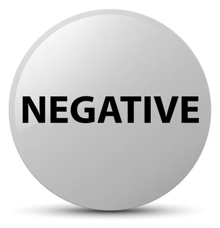 Negative isolated on white round button abstract illustration