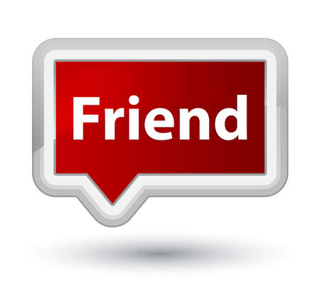 Friend isolated on prime red banner button abstract illustration Reklamní fotografie