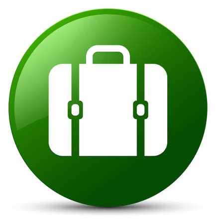 Bag icon isolated on green round button abstract illustration