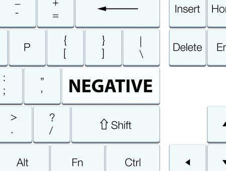 Negativo aislado en ilustración de botón blanco teclado abstracto Foto de archivo - 89052427