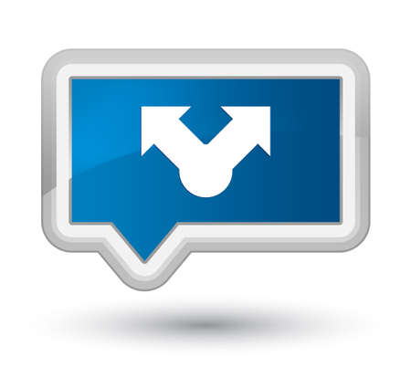 Share icon isolated on prime blue banner button abstract illustration