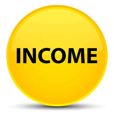 Income isolated on special yellow round button abstract illustration