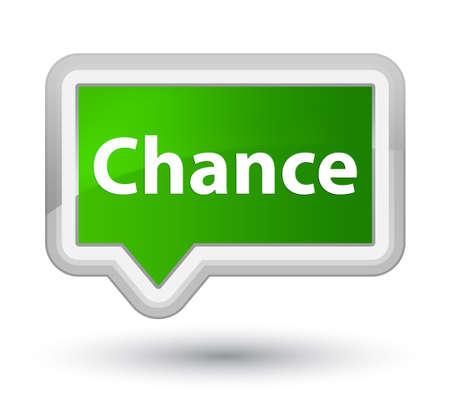 プライムの緑バナー ボタン抽象的なイラストに分離されたチャンス
