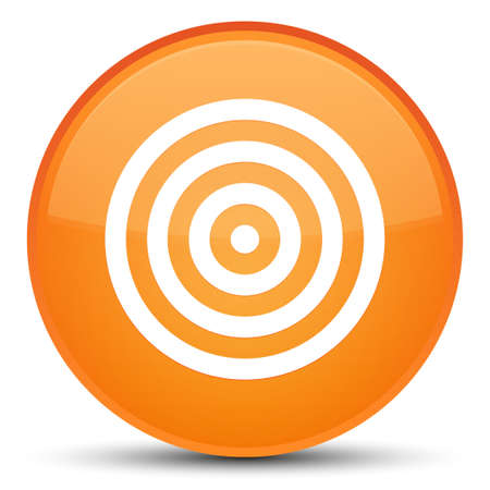 Target icon isolated on special orange round button abstract illustration Stock Photo