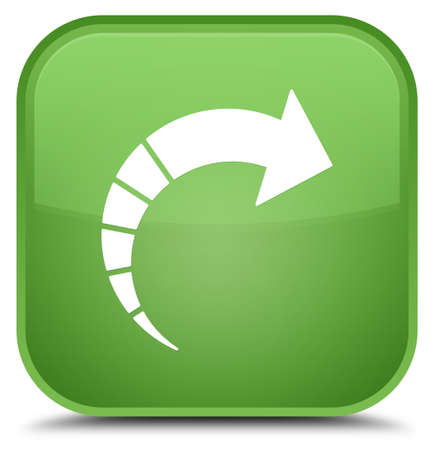 next icon: Next arrow icon isolated on special soft green square button abstract illustration Stock Photo
