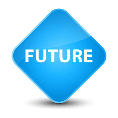 Future isolated on elegant cyan blue diamond button abstract illustration Stock Photo