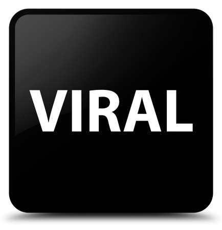 Viral isolated on black square button abstract illustration