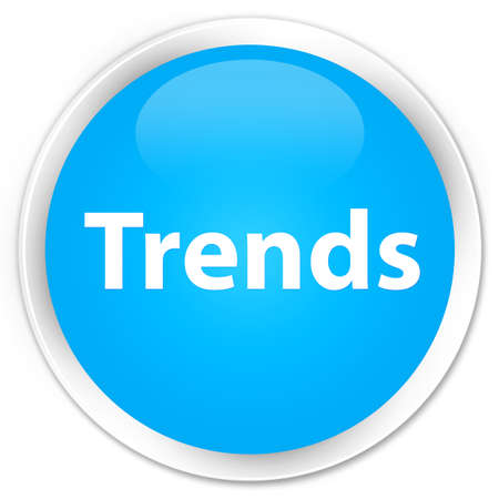 Trends isolated on premium cyan blue round button abstract illustration