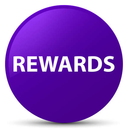 Rewards isolated on purple round button abstract illustration 版權商用圖片
