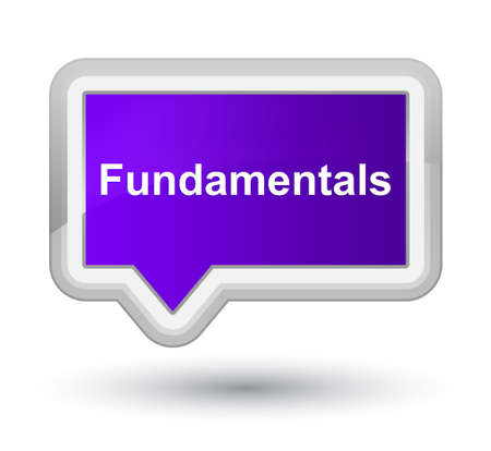 Fundamentals isolated on prime purple banner button abstract illustration