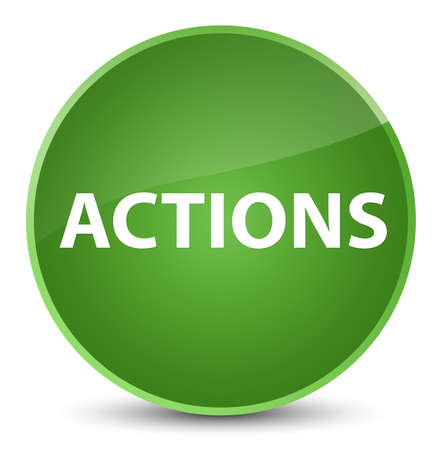 Actions isolated on elegant soft green round button abstract illustration