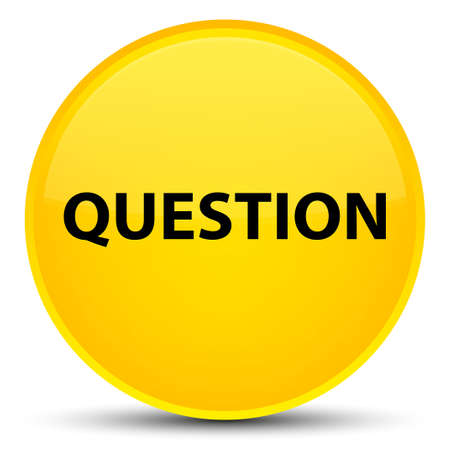 Question isolated on special yellow round button abstract illustration