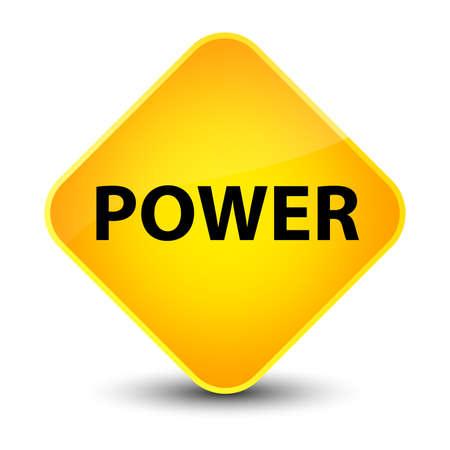 Power isolated on elegant yellow diamond button abstract illustration