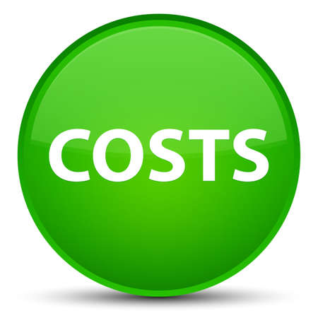 Costs isolated on special green round button abstract illustration